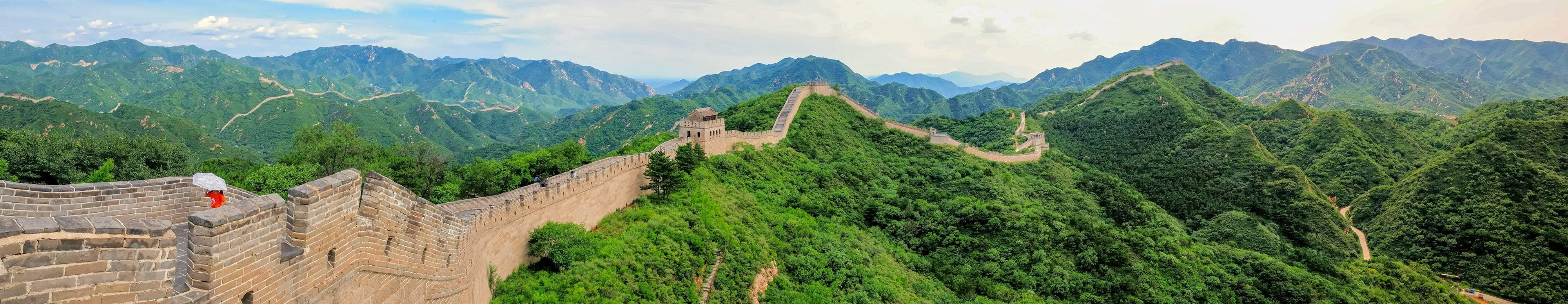 Wide Shot of Great wall China