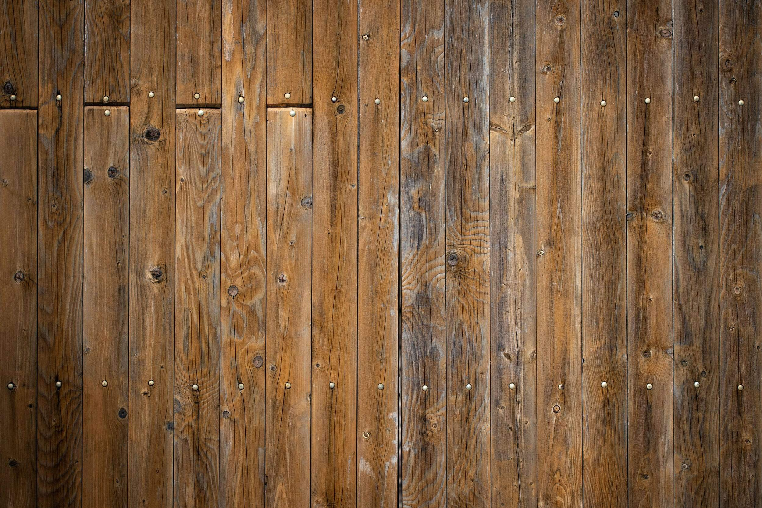Wood Panels with Rivets
