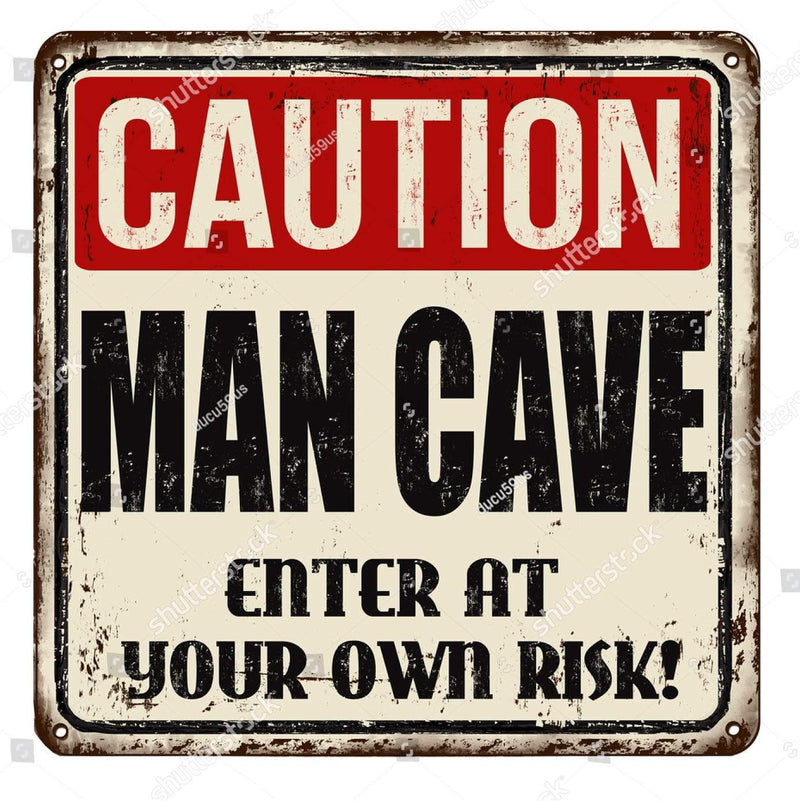 CoolWalls.ca DieCut Man Cave Poster Enter at Own Risk
