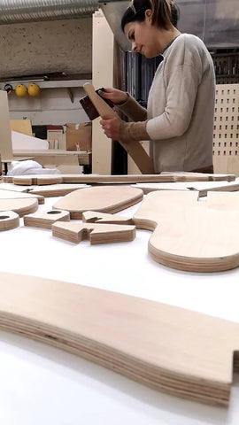Wood working puzzle board