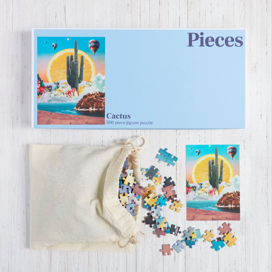 Boxed Cactus Jigsaw Puzzle 500 Pieces