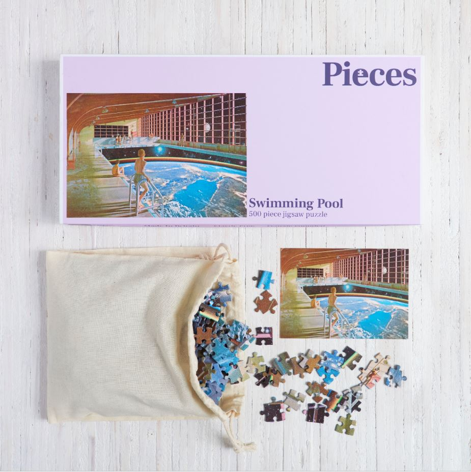 Boxed Swimming Pool Jigsaw Puzzle 500 Pieces