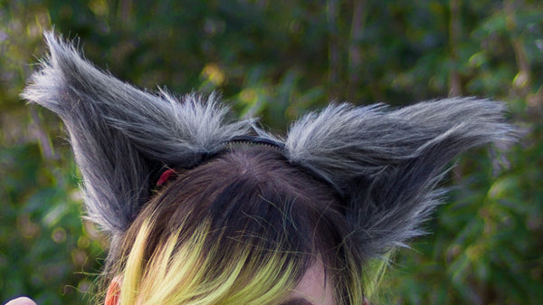 Gray Costume Animal Wolf Fox Cat Ears Headband