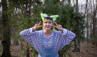 Green Costume Animal Wolf Fox Cat Ears Headband