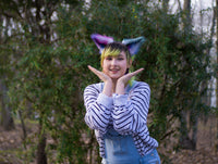 Galaxy Rainbow Costume Animal Wolf Fox Cat Ears