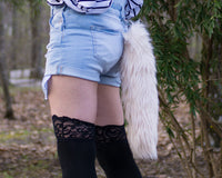 Cream Blonde Animal Costume Fox Tail