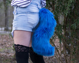 Blue Animal Wolf Costume Tail