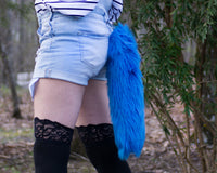 Blue Animal Costume Fox Tail