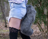 Gray Wolf Animal Costume Tail