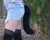 Soft Black Cat Animal Costume Tail