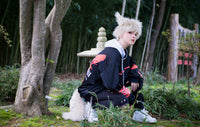 Cream Blonde Wolf Animal Costume Tail Wolf Bakugou