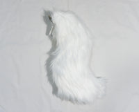 White Light Up Rave Costume Animal Wolf Tail With White, Blue, Red, Green, or Pink LEDs