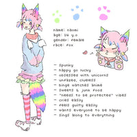 Rainbow Costume Animal Wolf Fox Cat Ears