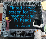 Tinted Acrylic Screen For DIY Monitor or TV Head Costume