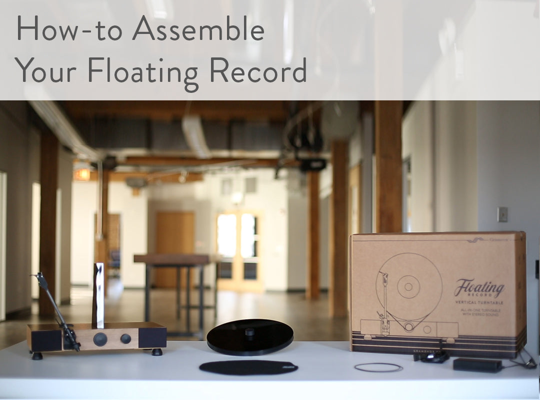 Floating Record Vertical Turntable – Vertical Record Player with Built-in Speakers | Support - How to Assemble, Finished