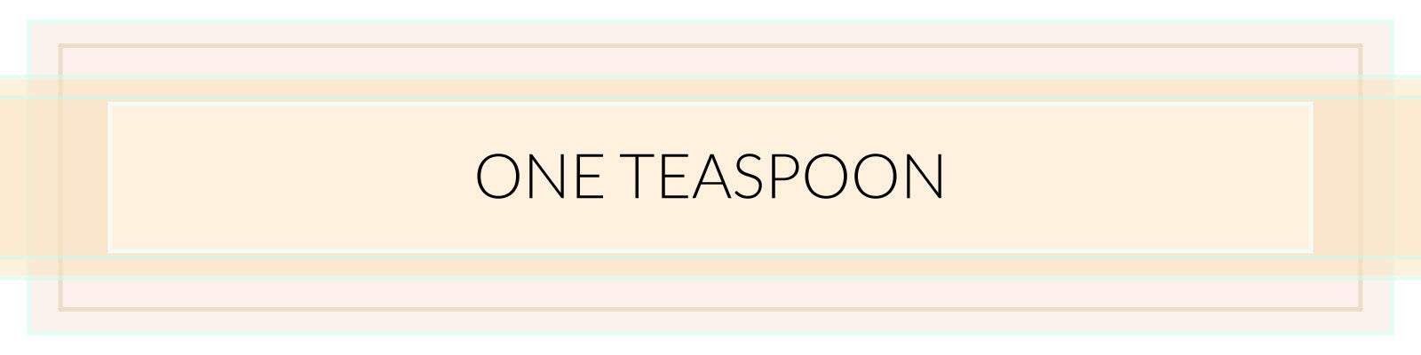 One Teaspoon