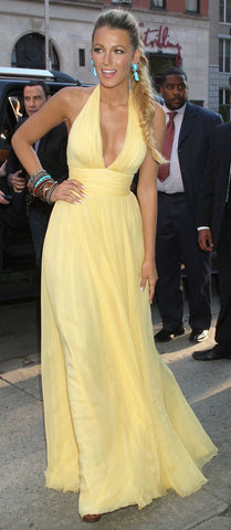 Blake Lively Yellow Gown
