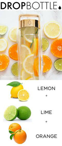 Drop Bottle Recipe Lemon Lime and Orange