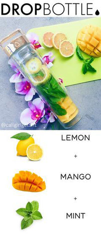 Drop Bottle Lemon Mango and Mint recipe