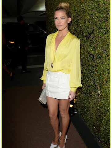 kate hudson yellow top