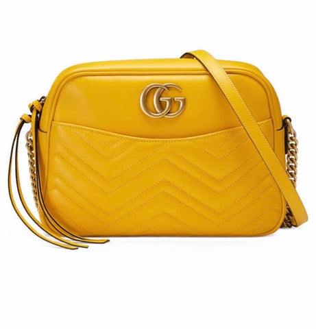 Gucci yellow cross body