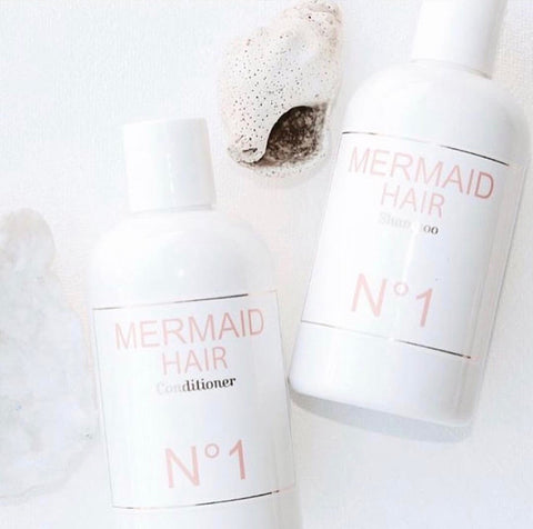 Mermaid Hair Shampoo and Conditioner with Seashell