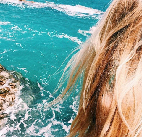 Mermaid hair with ocean view