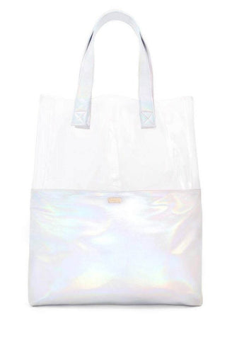Peekaboo tote bag - clear holographic