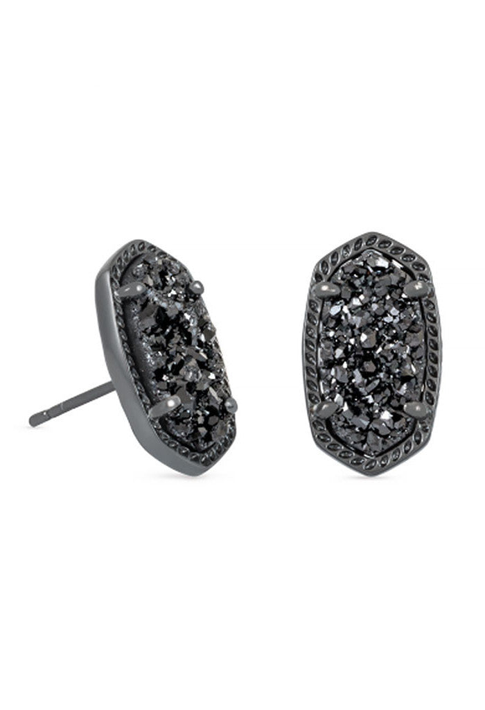 Kendra Scott Ellie Stud Earrings in Black Drusy