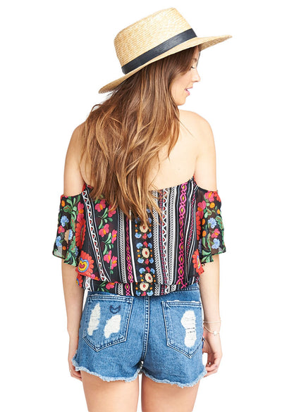 Show Me Your Mumu NICA RUFFLE TOP - MEXICALI