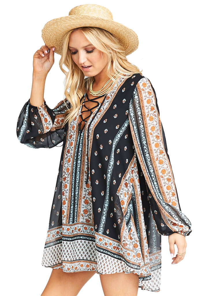 Show Me Your Mumu LIGHTNING BIRD TUNIC - HONEYSUCKLE PAISLEY