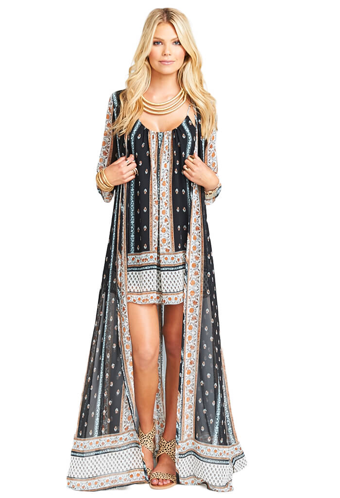 Show Me Your Mumu DURAN CAPE - HONEYSUCKLE PAISLEY