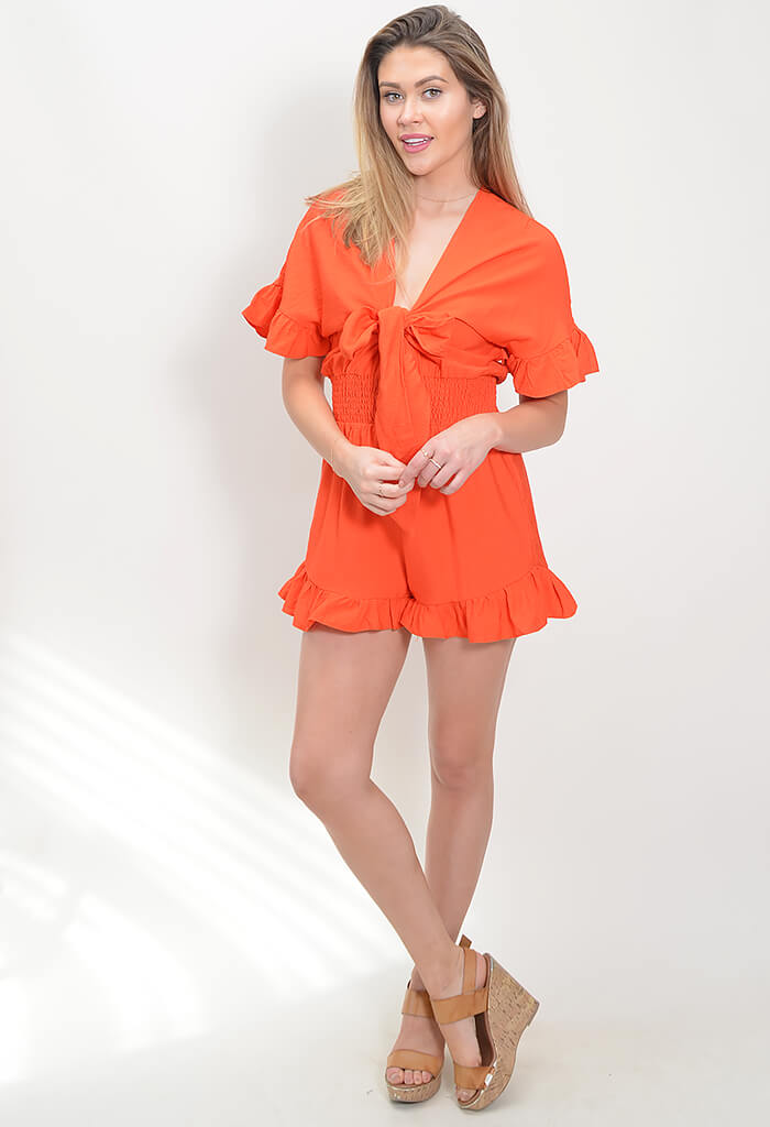 Bloody Mary Ruffle Romper