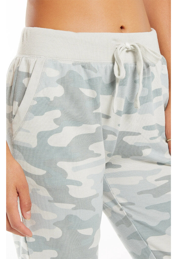 Z Supply Camo Jogger Pant-Dusty Sage