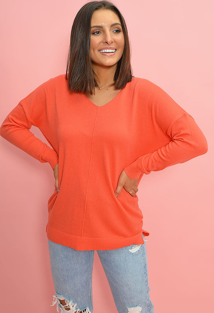 Brooke Sweater-Coral