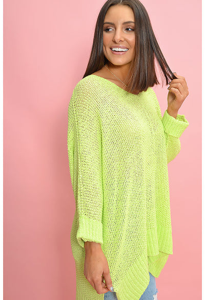 Bubble Gum Sweater-Neon