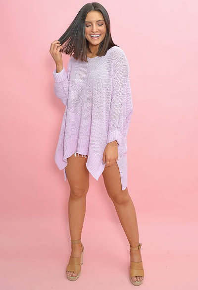 Bubble Gum Sweater-Lilac