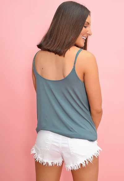 Summer Drape Tank - Green