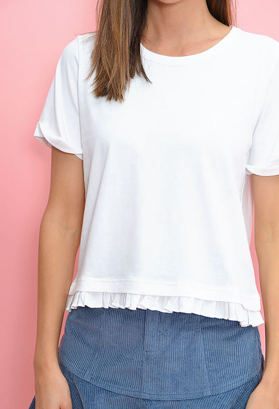 Boxy Lady Tee- White