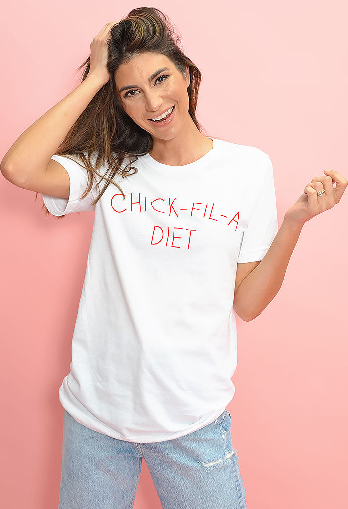 Chick Fil A Diet Shirt-White