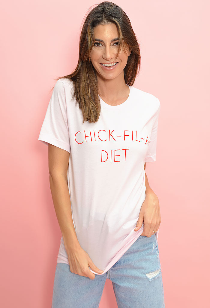 Chick Fil A Diet Shirt-Pink