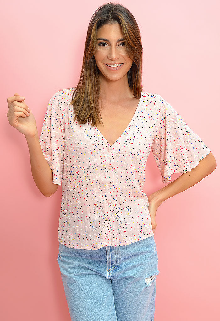 Surprise Party Top-Rosewater