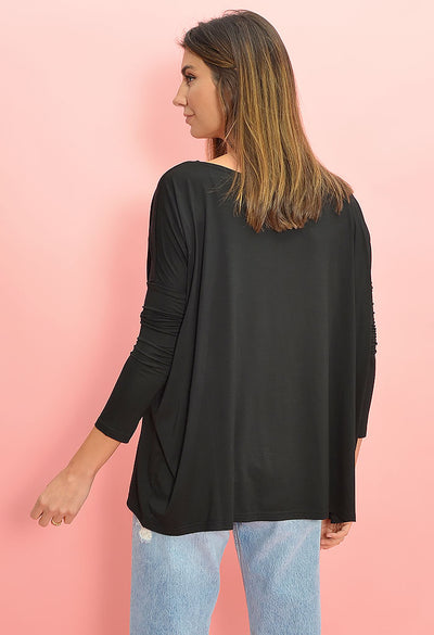 Rebecca Tunic Top-Black