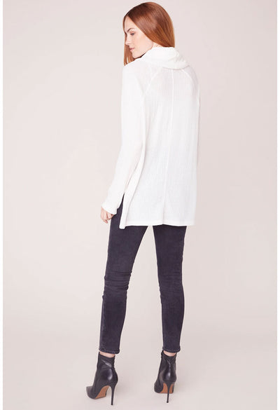 House of Waffles Cowl Neck Top-Ivory