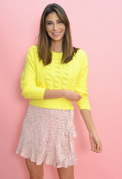 Waist the Day Sweater-Saffron Yellow