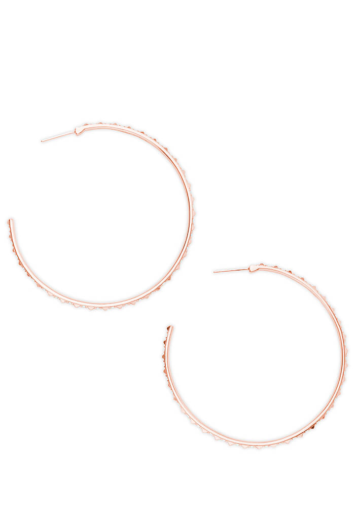 VAL HOOP EARRINGS - Rose Gold