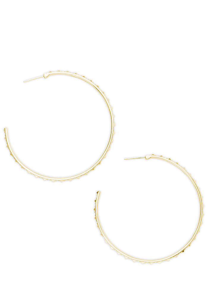 Kendra Scott VAL HOOP EARRINGS - Gold