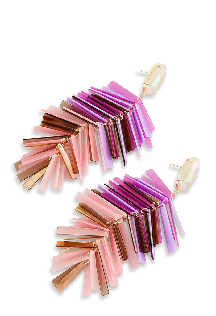 JUSTYNE EARRINGS - Blush