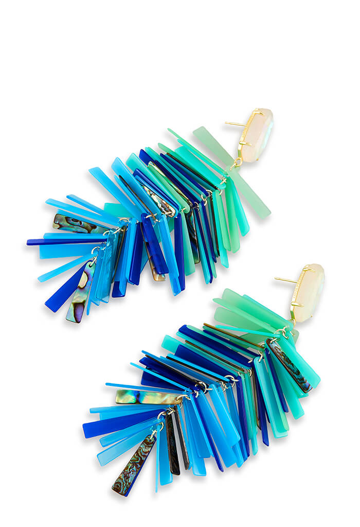 JUSTYNE EARRINGS - Blue