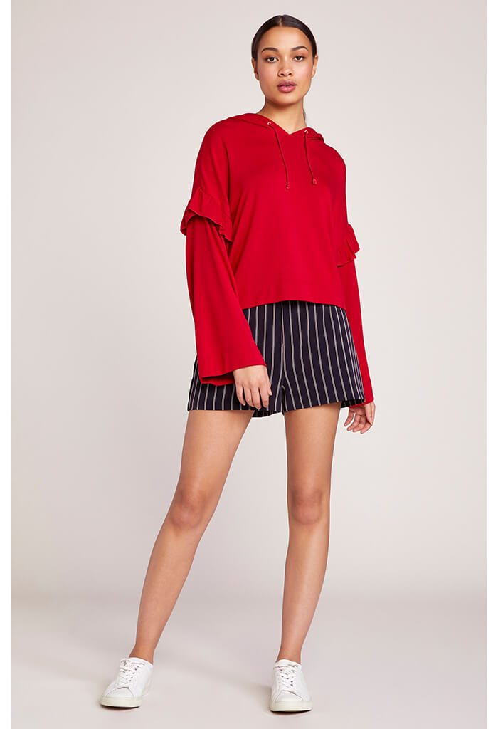 SHE'S A MYSTERY SCOOTER RED SWEATER